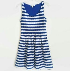 Elle Blue and White Striped Dress